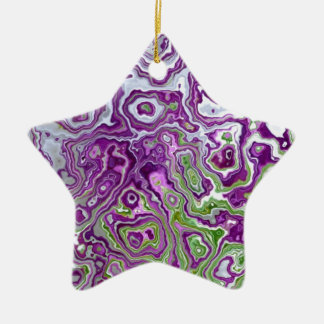Retro marbled Art Christmas Ornament