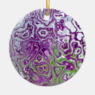 Retro marbled Art Christmas Ornament