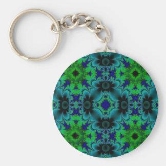 Retro Margeriten - Artdeco in grün blau schwarz Schlüsselanhänger