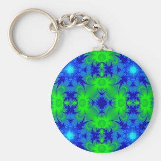 Retro Margeriten u Sterne Artdeco in grün blau Schlüsselbänder