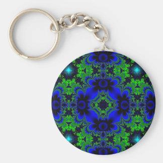 Retro Margeriten u Sterne Artdeco in grün blau Schlüsselanhänger