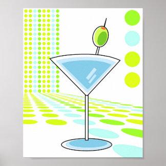 Retro Martini 8x10 Poster