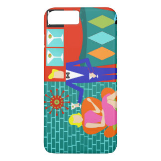 Retro Martini Couple iPhone 7 Case