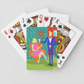 Retro Martini Couple Playing Cards