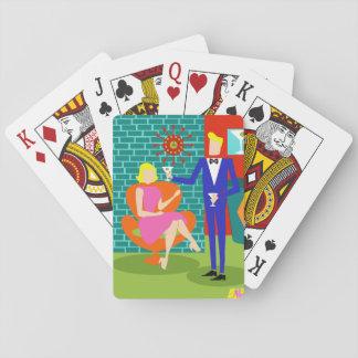 Retro Martini Couple Playing Cards