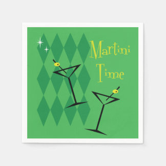 Retro Martini Disposable Napkin