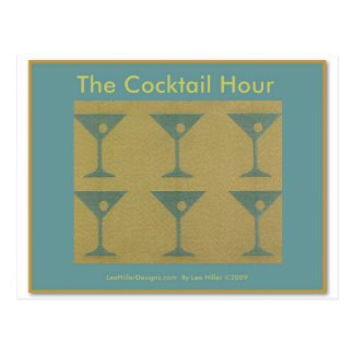 """Retro Martini """"The Cocktail Hour""""  Gifts Apparel Postcard"""
