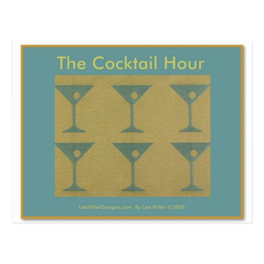 """Retro Martini """"The Cocktail Hour"""" Gifts Apparel"""