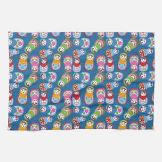 Retro Matryoshka Dolls Tea Towel