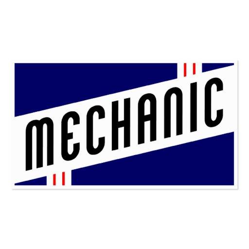 Premium automotive business card templates retro mechanic business card reheart Image collections