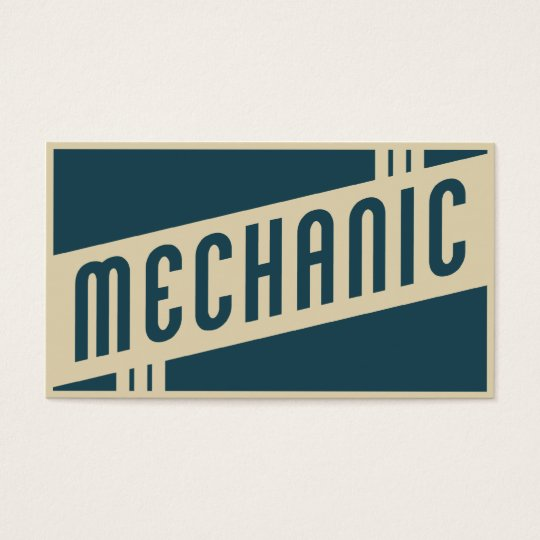retro mechanic business card
