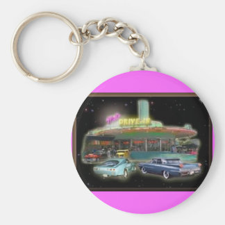 Retro Mel's Drive-In Budget Key Chain