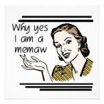 Retro Memaw T-shirts and Gifts Invitations