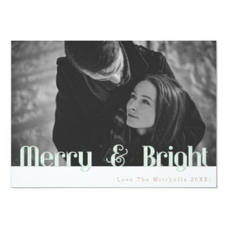 Retro Merry & Bright | Holiday Photo Card