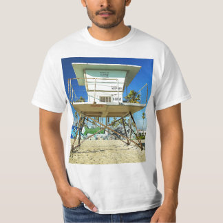 Retro Miami Beach Life Guard Stand T-Shirt