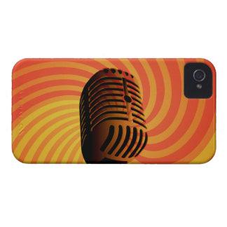Retro Microphone custom Blackberry case