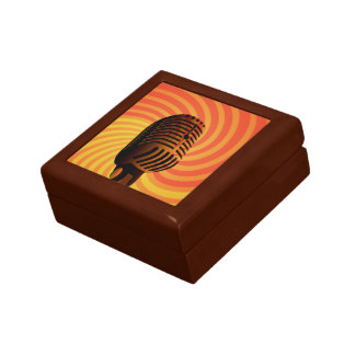 Retro Microphone custom gift / jewelry box