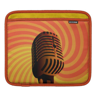Retro Microphone custom iPad sleeve