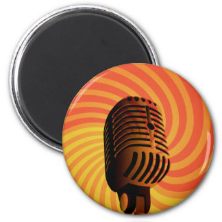 Retro Microphone custom magnet