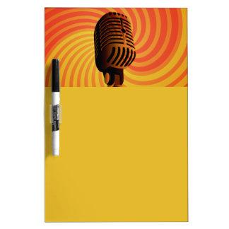 Retro Microphone custom message board