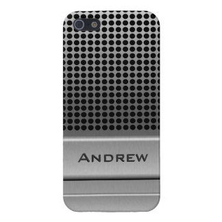 Retro Microphone Name Template Case For The iPhone 5