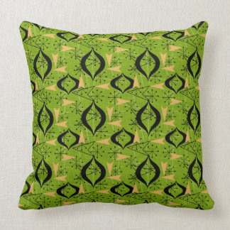 Retro Mid-Century Modern | Atomic Shapes Throw Pillow
