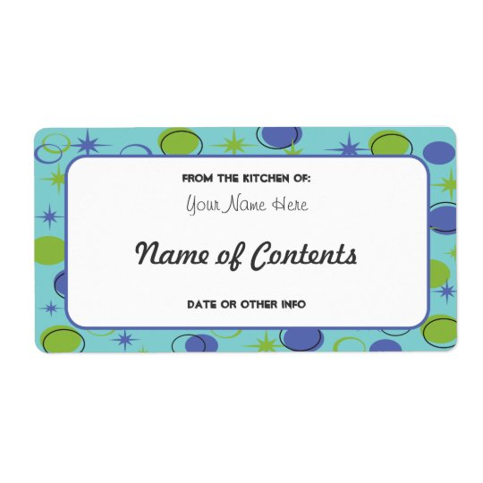 Retro Midcentury Modern Canning Jar Label Shipping Label