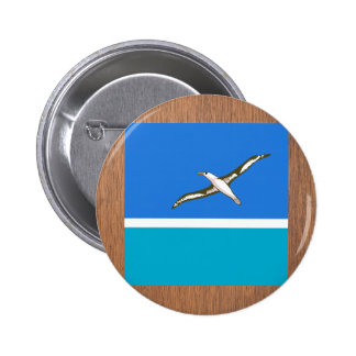 Retro Midway Islands Flag 6 Cm Round Badge