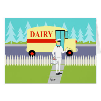 Retro Milkman Father's Day Card