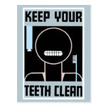 Retro minimalist ad Keep your teeth clean