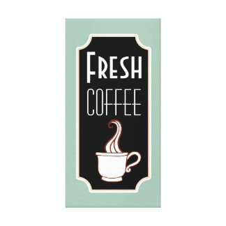 Retro Mint Coffee Shop Wall Art Kitchen Sign Gift