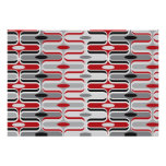 Retro Mod Art Deco Zig Zag Funky Pattern Red Black