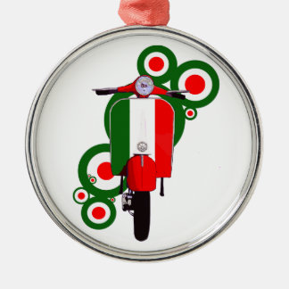 Retro Mod  Art Italian Scooter Christmas Ornament
