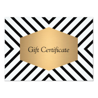 Retro Mod Black and White Pattern Gift Certificate 11 Cm X 16 Cm Invitation Card