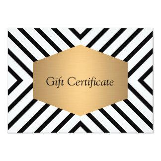Retro Mod Black and White Pattern Gift Certificate 11 Cm X 16 Cm Invitation Card