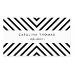 Retro Mod Black and White Pattern Pack Of Standard Business Cards