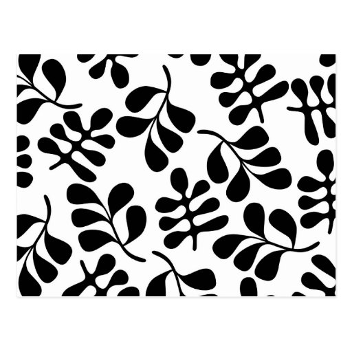 Retro MOD Black and White Pattern Postcards