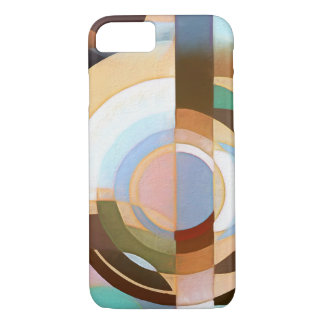 Retro Mod Brown and Blue Grapic Circle Pattern iPhone 8/7 Case