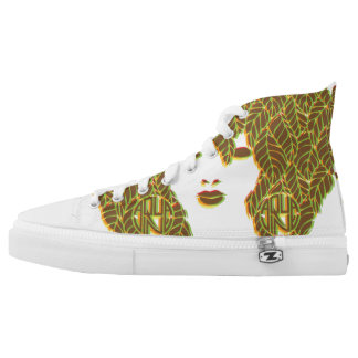 Retro Mod DRYAD Zip High Tops Printed Shoes