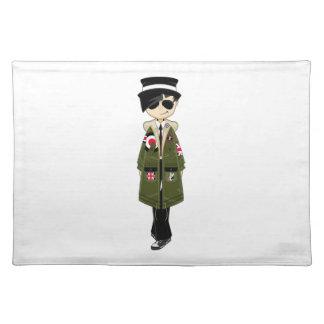 Retro Mod Girl in Sunglasses Placemat