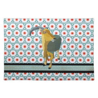 Retro Mod Moonlight Aoudad Placemat