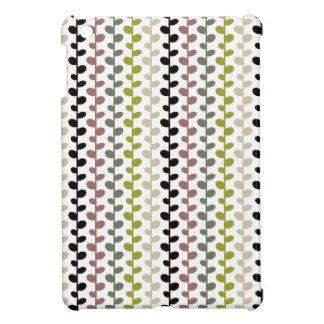 Retro Mod Multicolored Leaf Pattern iPad Mini Cases