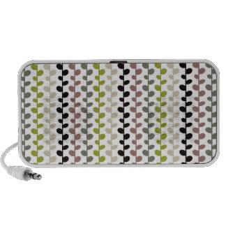 Retro Mod Multicolored Leaf Pattern Laptop Speaker
