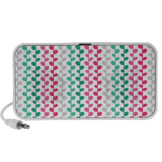 Retro Mod Multicolored Leaf Pattern Laptop Speakers