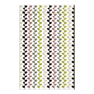 Retro Mod Multicolored Leaf Pattern Personalized Stationery