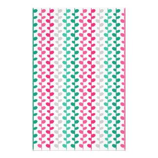 Retro Mod Multicolored Leaf Pattern Stationery