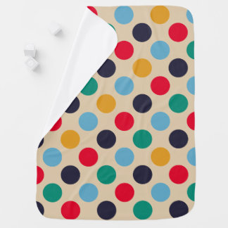 Retro Mod Polka Dot Pattern Swaddle Blankets