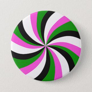 Retro Mod Pop Art Swirl Button