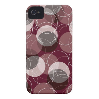 Retro Mod Rings Red Pattern Art iPhone 4 CaseMate iPhone 4 Covers