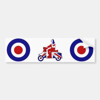 Retro Mod Scooter Boy UK Bumper Sticker